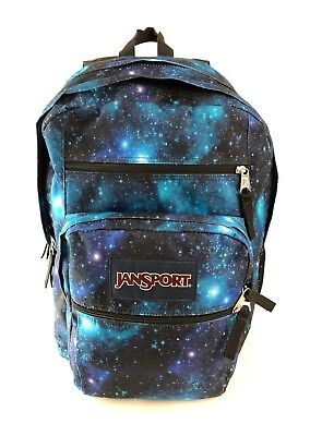 Jansport Big Student Expandable ergonomic Backpack school bag galaxy space nice