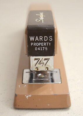 Vintage Swingline 747 Property Of Wards Industrial Metal Stapler - Made In Usa