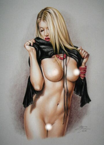 PRINT OF THE ORIGINAL *** PIN UP ART by SLY *** DRAWING # 6790