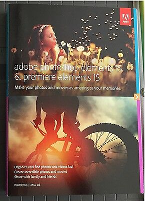 Adobe Photoshop Elements 15 & Premiere Elements 15 Brand New and Retail Packing!