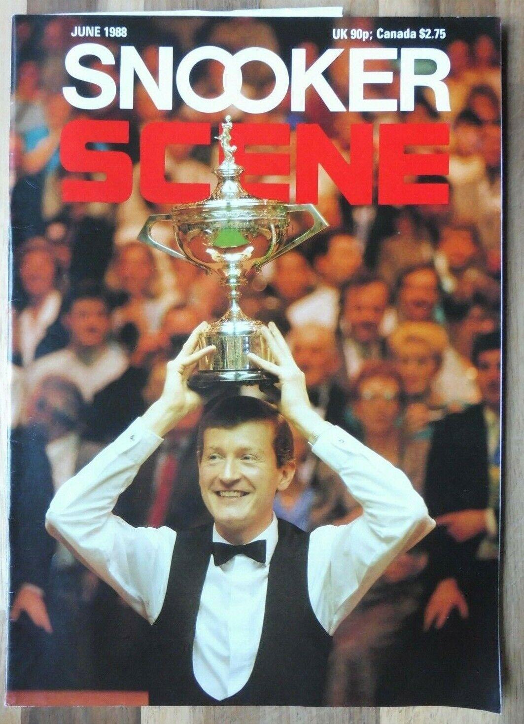 Snooker Scene Magazine, June 1988, Good Condition.