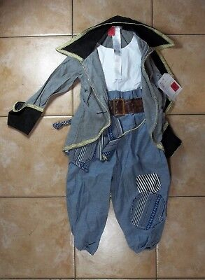 Pottery Barn Kid Over The Top Boy Blue Pirate Halloween Costume 7- 8 Years #1556](Top Kid Halloween Costumes)