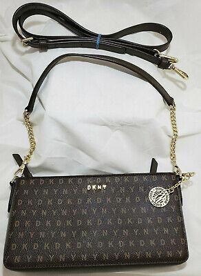 NWOT DKNY BAG Signature Tan Logo Brown Tote Handbag Monogram Logo Signature Tan Tote Handbag