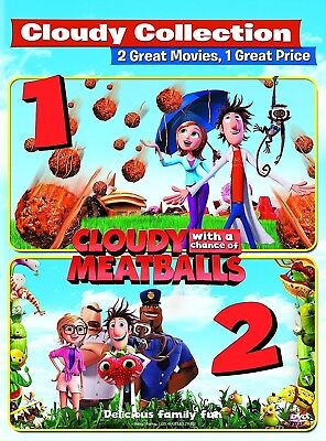 Cloudy with a Chance of Meatballs/Cloudy with a Chance of Meatballs 2 DVD NEW