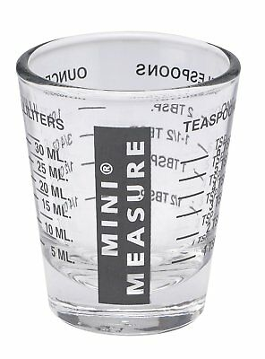 Mini Measure Multi-Purpose Measuring Cup Shotglass, Black