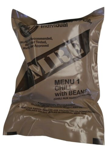 NEW MRE Singles - 2022 Inspection Date - US MILITARY Meals Ready to Eat