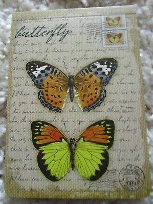 kleiner Notizblock Cover Motiv Schmetterling Block Geschenk Mitbringsel