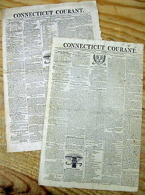 2 1815 War of 1812  newspapers BATTLE of NEW ORLEANS begins  GEN ANDREW JACKSON