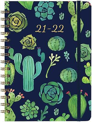 2021-2022 Weekly Monthly Planner 6.3 X 8.4 Blue With Tabs Pocket - Hardcover