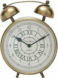 Deco 79 40654 Stylish Metal Table Clock, 7 W x 8 H