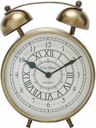 Deco 79 40654 Stylish Metal Table Clock, 7 W x 8 H