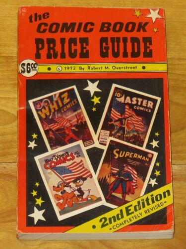 1972 OVERSTREET COMIC BOOK PRICE GUIDE No. 2 Golden Age Covers VG+ 4.5 NR