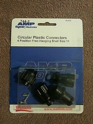 Amp Tycoelectronics 744-1 Circular Plastic Connectors