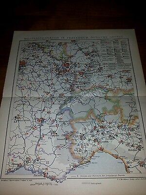 dislokation in Frankreich - Östliche Grenze aus Lexikon 1897 (Tafel Grenzen)
