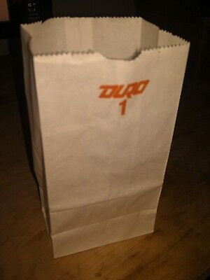 100 - 1LB WHITE DURO PAPER GROCERY BAGS, 3-1/2