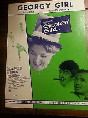 GEORGY GIRL Sheet Music MovieTie-In Vintage Sheet Music (1966)