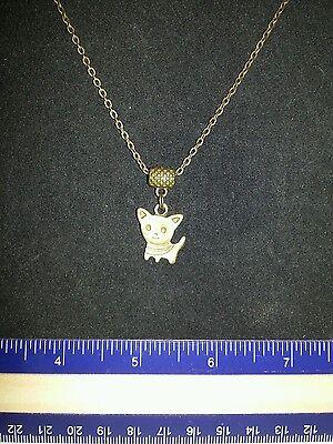 Bronze Chihuahua/Pomeranian  necklace 1010