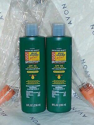 Avon 8 fl.oz. Skin So Soft SSS BUG GUARD repellent & sunscreen SPF 30 LOT of 2