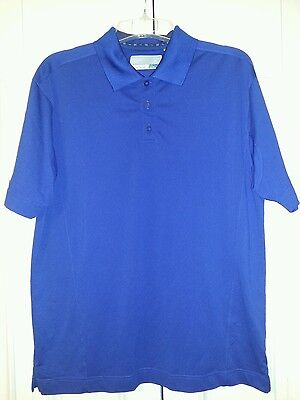 Mens Cutter & Buck Performance Golf Polo DryTec Wicking Shirt Blue SIZE Lg. Blue Drytec Performance Polo