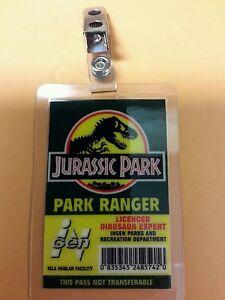 Jurassic-Park-ID-Badge-Park-Ranger-Dinosaur-Expert-costume-prop-cosplay