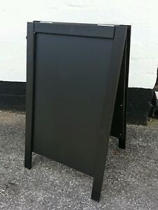Black Wooden A Board - Sandwich - Blackboard - Pavement Sign - 70 x 40cm