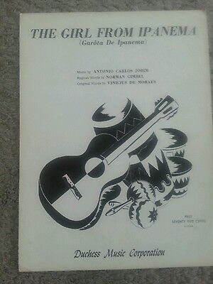 "VINTAGE SHEET MUSIC ""The Girl From Ipanema"" (1968) (Garota De Ipanema)"