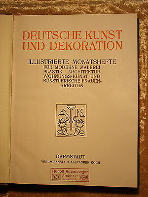 Alexander Koch,Darmstadt-DEUTSCHE KUNST UND DEKORATION-45.-50.Band,1919-21, komp