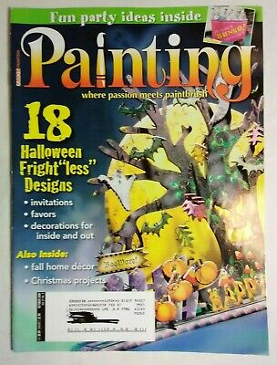 Jamie Mill-Price Halloween Bunko Drink Tub Cooler Painting Magazine Oct 2006](Jamie Mills Price Halloween)