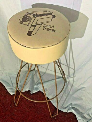 PAUL FRANK VTG CAMERA CAMCORDER GRAPHIC DESIGN RETRO DESIGNER SWIVEL STOOL RARE