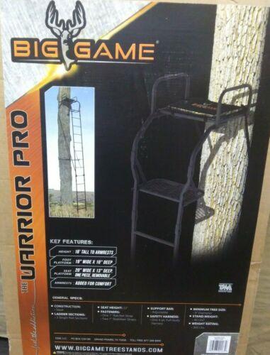 NEW Big Game Warrior Pro Ladder Tree Stand 16