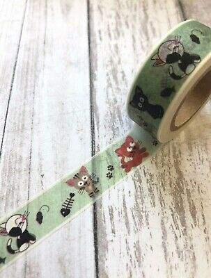 Kitty Cat Kitten Washi Tape Papercraft Planner Supply Journal Bujo Party ](Kitty Cat Party Supplies)