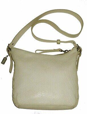 EUC Coach Vtg Slim Duffle Crossbody Messenger Bag Purse Soft Pebble Grain White