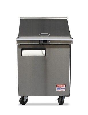 Sandwich Prep Unit 27 Table Salad Mega Top Refrigerator Cooler 1 Door 12 Pan
