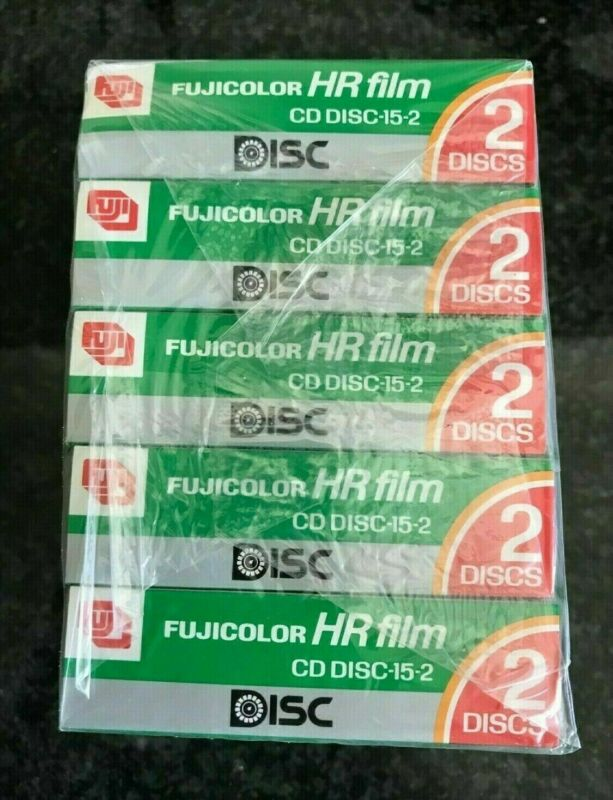 5 x Fuji HR FILM Disk expired film each pack have 2 disk