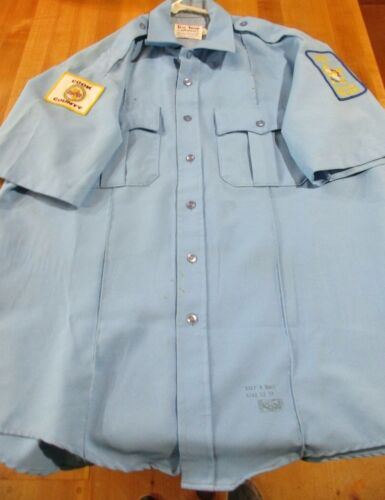 Vintage Cook County Shirt with 2 Patches. Hospital Police & Cook County 1831 >