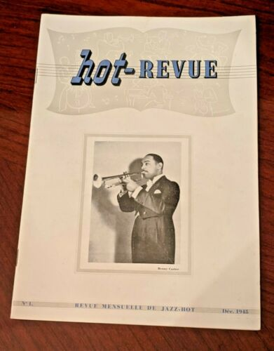 Vintage Dec 1945 Hot-Revue Jazz Magazine #1 Benny Carter Duke Ellington French