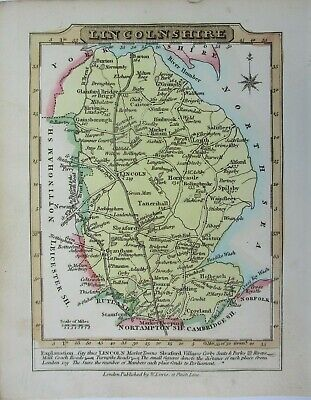Antique map of Lincolnshire by William Lewis 1819