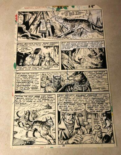WHITE FANG original art MARVEL CLASSICS #32 Jack London 1978 GOLD RUSH MAN GODS