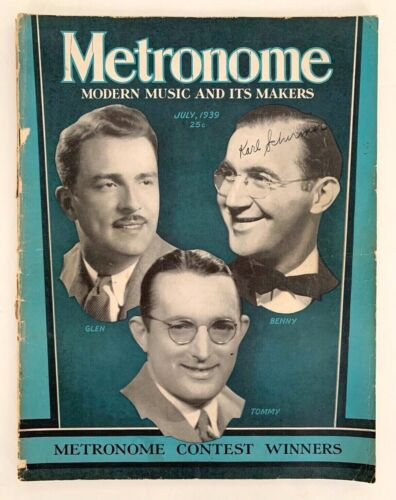 Metronome Magazine July 1939 Glen, Benny & Tommy Contest Winners
