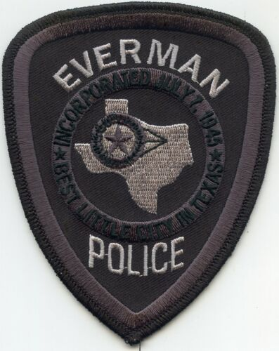 EVERMAN TEXAS TX POLICE PATCH