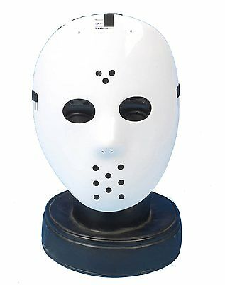 White Hockey Mask Jason Style Friday 13th Halloween Mike Myers P7017