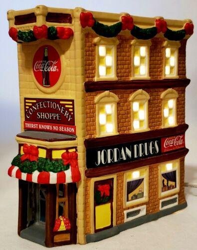 Coca Cola Town Square Confectionery Shoppe Jordan's Store Christmas Village 1999