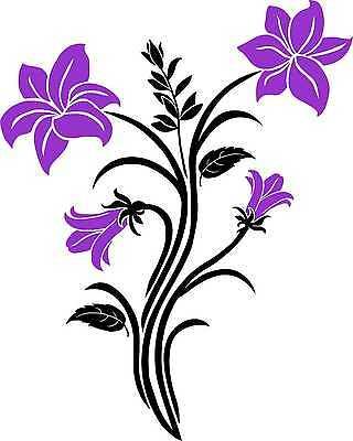Tribal Aufkleber Wandtattoo Sticker Auto Spiegel  (Tribal Blumen)