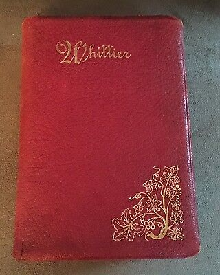 The Early Poems Of John Greenleaf Whittier Red Leather Hardcover
