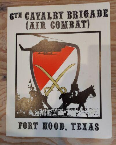 Rare 1968 -1970 Original  6th Cavalry Brigade ( Air Combat)  Vietnam War Poster