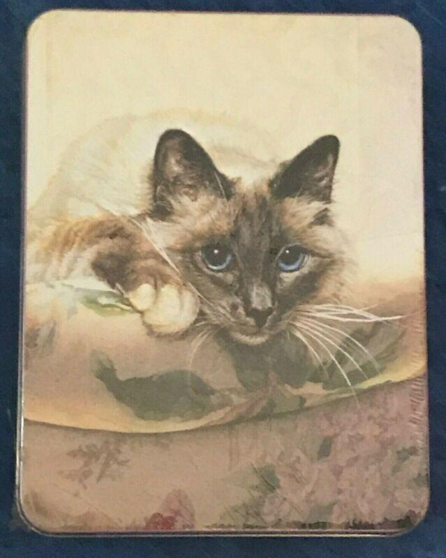 Sueellen Ross 20 Note Cards 4 Designs & Keepsake Tin Cat Kitten Art
