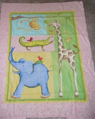 Greenhouse Glass Panels (Jungle Jamboree Nursery Quilt Panel Fabric Cotton FLANNEL Henry Glass Fabric )