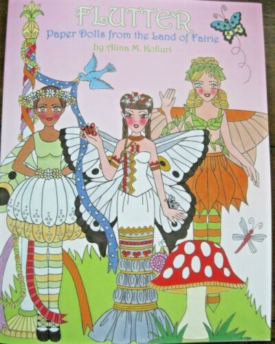 NEW!  Lovely 3-Doll FLUTTER Paper Dolls from Faerie Book from Paperdoll Review