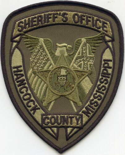 HANCOCK COUNTY MISSISSIPPI MS Subdued Green SHERIFF POLICE PATCH