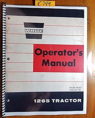 White Oliver Cockshutt 1265 Minneapolis-moline G350 Tractor Operator Manual 472
